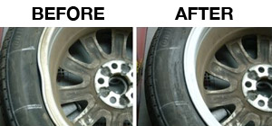 bent wheels before & after